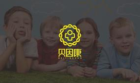 贝因康 字体设计 logo字体