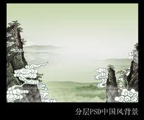 高清中国风背景PSD分层模板