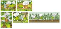 卡通豆子绿色插画
