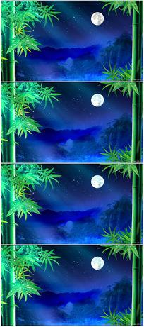 中秋圆月视频背景素材