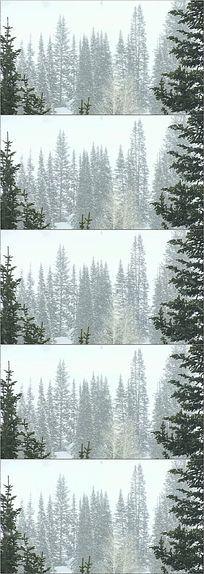 高清下雪圣诞舞台背景视频素材