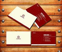 红色商务企业名片设计