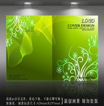 绿色线条花纹封面设计