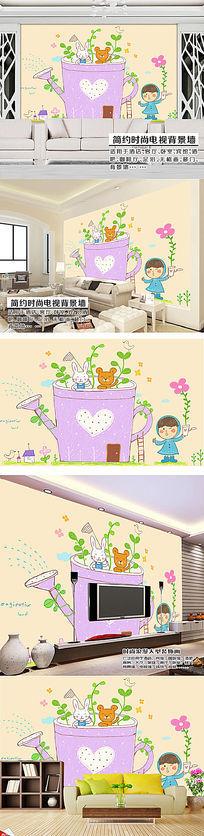 童趣乐园时尚儿童沙发客厅卧室背景墙