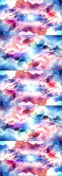 唯美彩云中秋背景视频素材