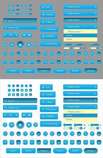 UI界面设计播放器按钮设计 AI