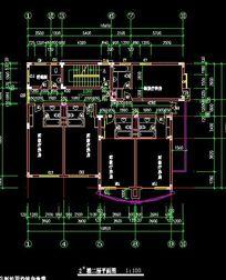 别墅式疗养院3剖面A-A号楼建筑规划图_CAD图图纸小熊卡通十字绣图片