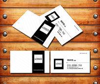 简洁黑白商务名片设计