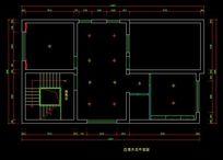 都市风格自建别墅四层天花平面图 CAD