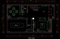 都市风格自建别墅一层电气平面图 CAD