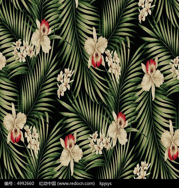 古典室内装饰画树叶设计图片