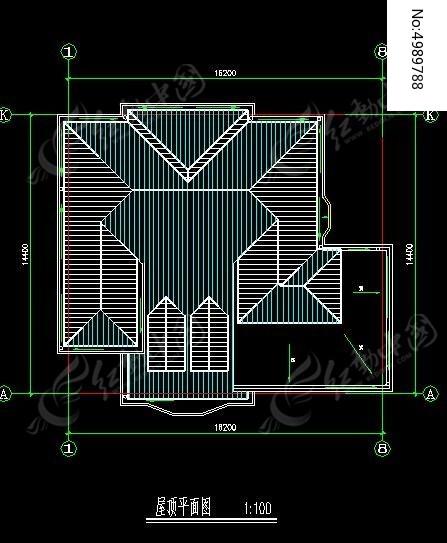 农村自建别墅屋顶规划平面图
