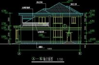 别墅式疗养院2号楼A-A图纸建筑规划图_CAD图电锂剖面涂布机图片