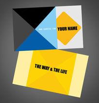 时尚简洁图案创意商业服务设计名片