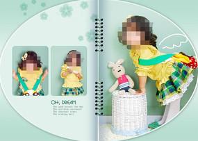 四岁女孩书本儿童模板