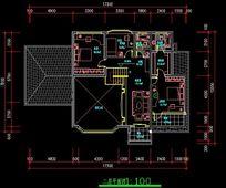 别墅式疗养院1图纸A-A水泥建筑规划图_CAD图散装剖面罐号楼图片