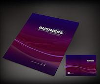 紫色大气曲线封面设计
