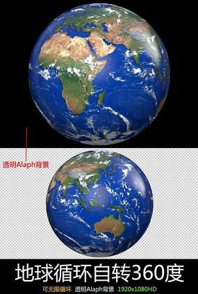 3D地球自西向东转动画视频素材素材下载
