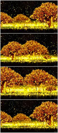 高端金色树摇钱树片头视频素材 mov