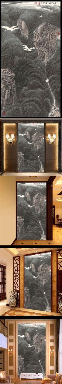 古典国画山水森林装饰画