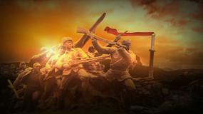 抗战背景视频素材 mov