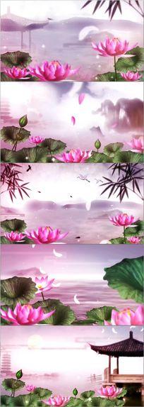 水墨中国风舞台led背景视频素材