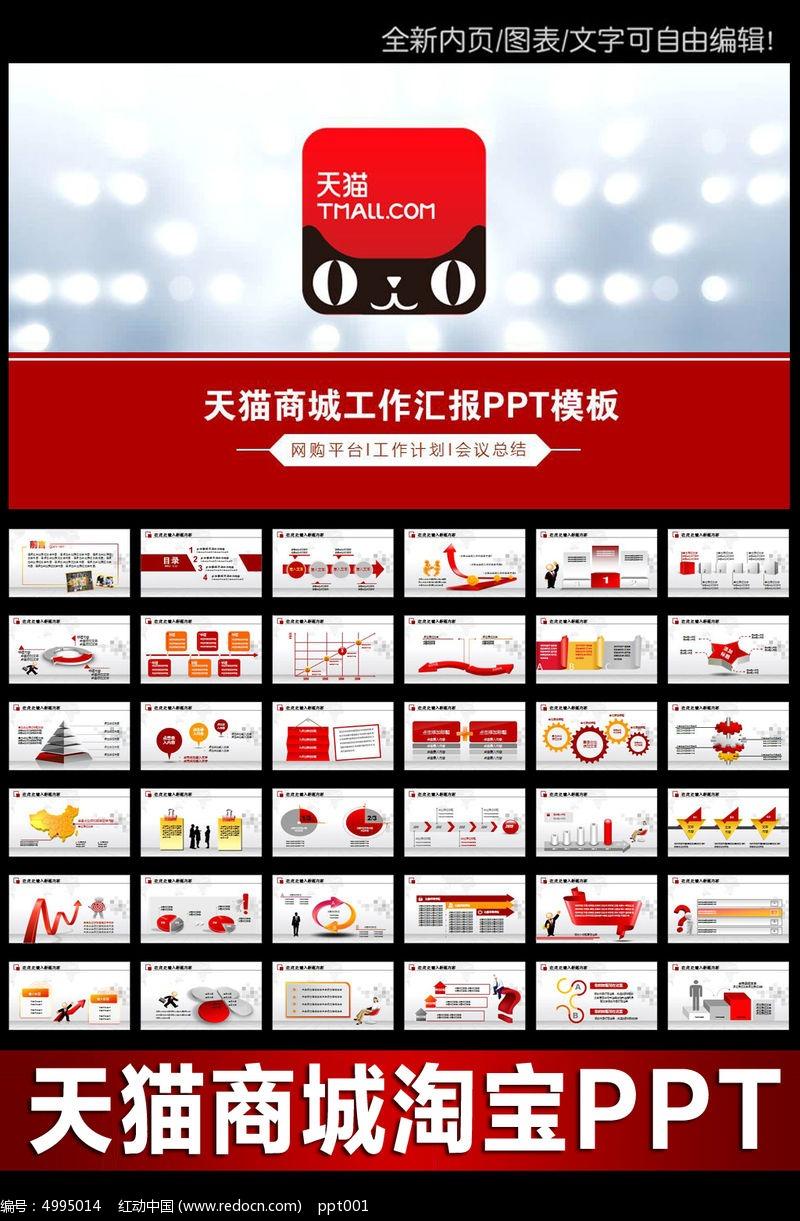 天猫淘宝网店运营推广营销策划书PPT模板图片