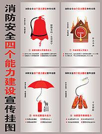 消防四个能力挂画设计
