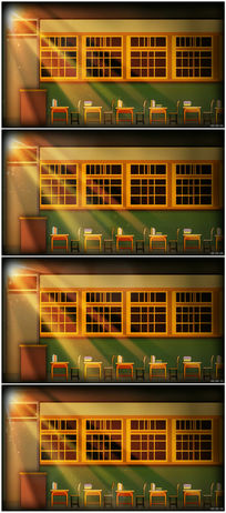 学校教室课堂讲台led背景视频素材