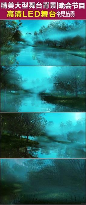 意境森林梦幻湖泊神话视频素材