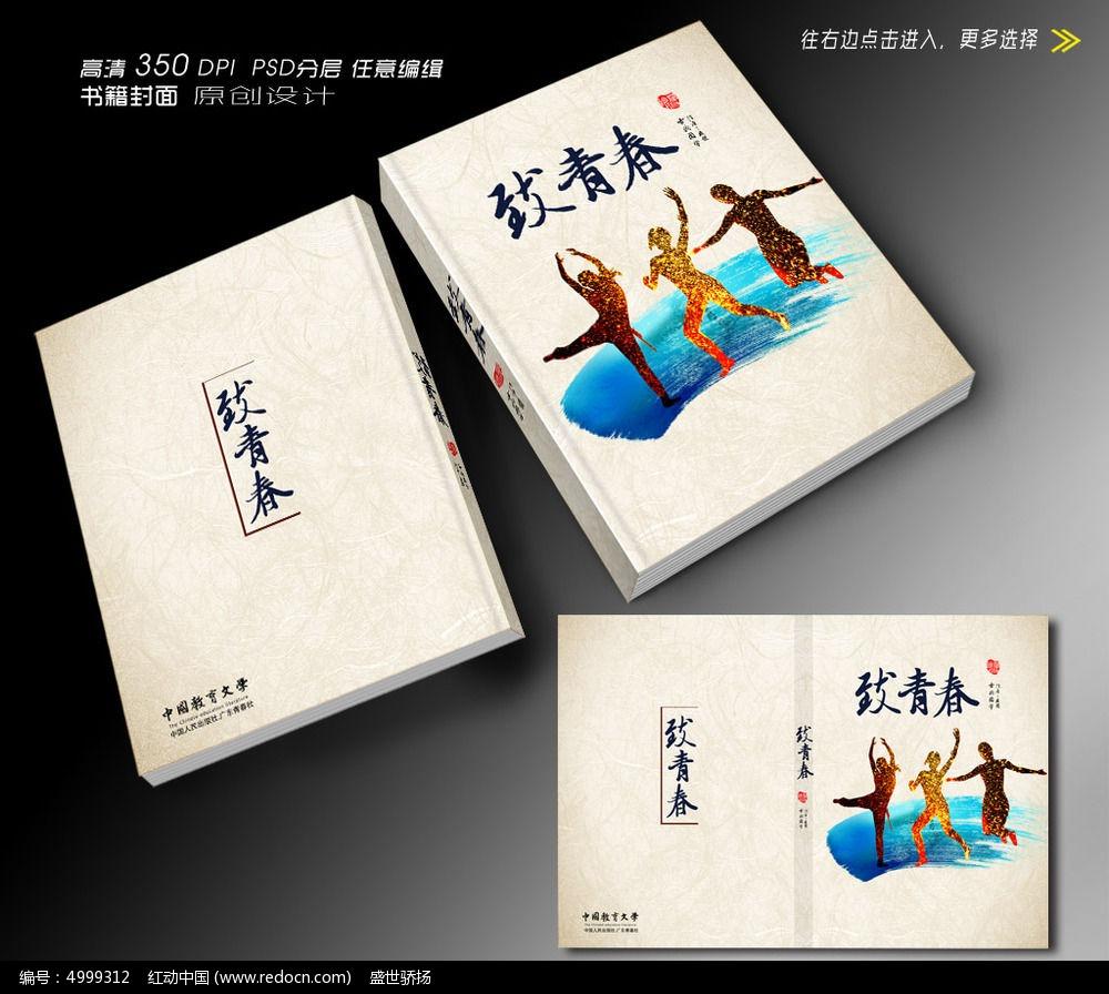 致青春书籍封面设计