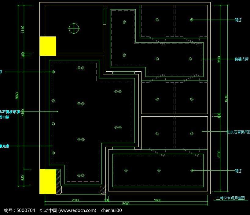 中式火锅店图纸卫生间顶面图_CAD图纸软件素广联达二楼算量cad隐藏图片图片