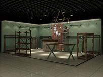 做旧复古工业风童装服装店设计3D模型