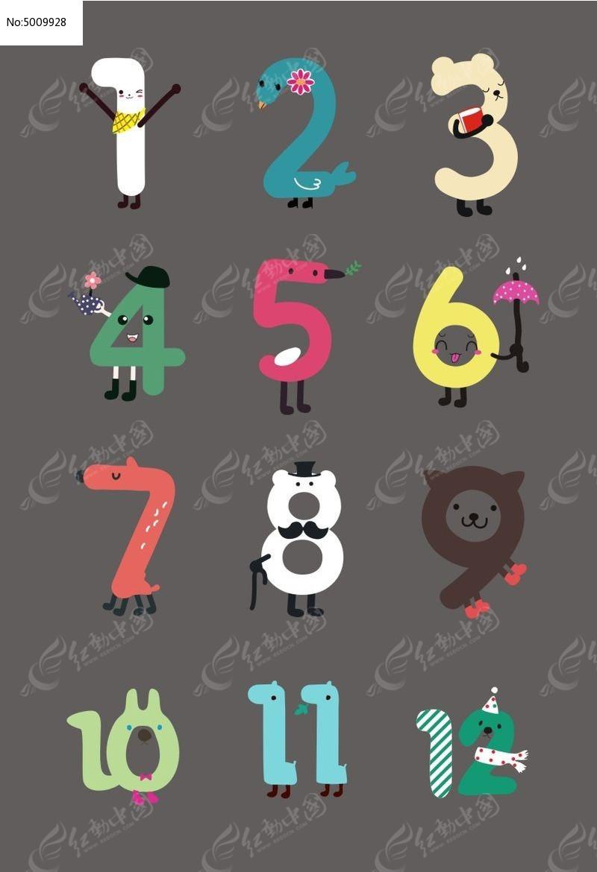 数字0到10卡通图画_0到9的数字卡通图片_画画大全