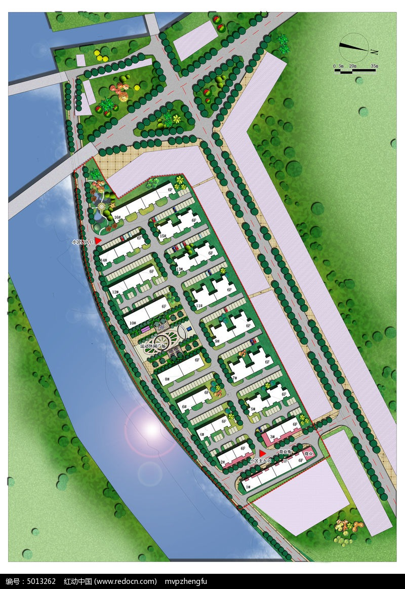 住宅小区规划总片面图片