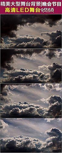 气势如虹的满天乌云飘动背景视频素材