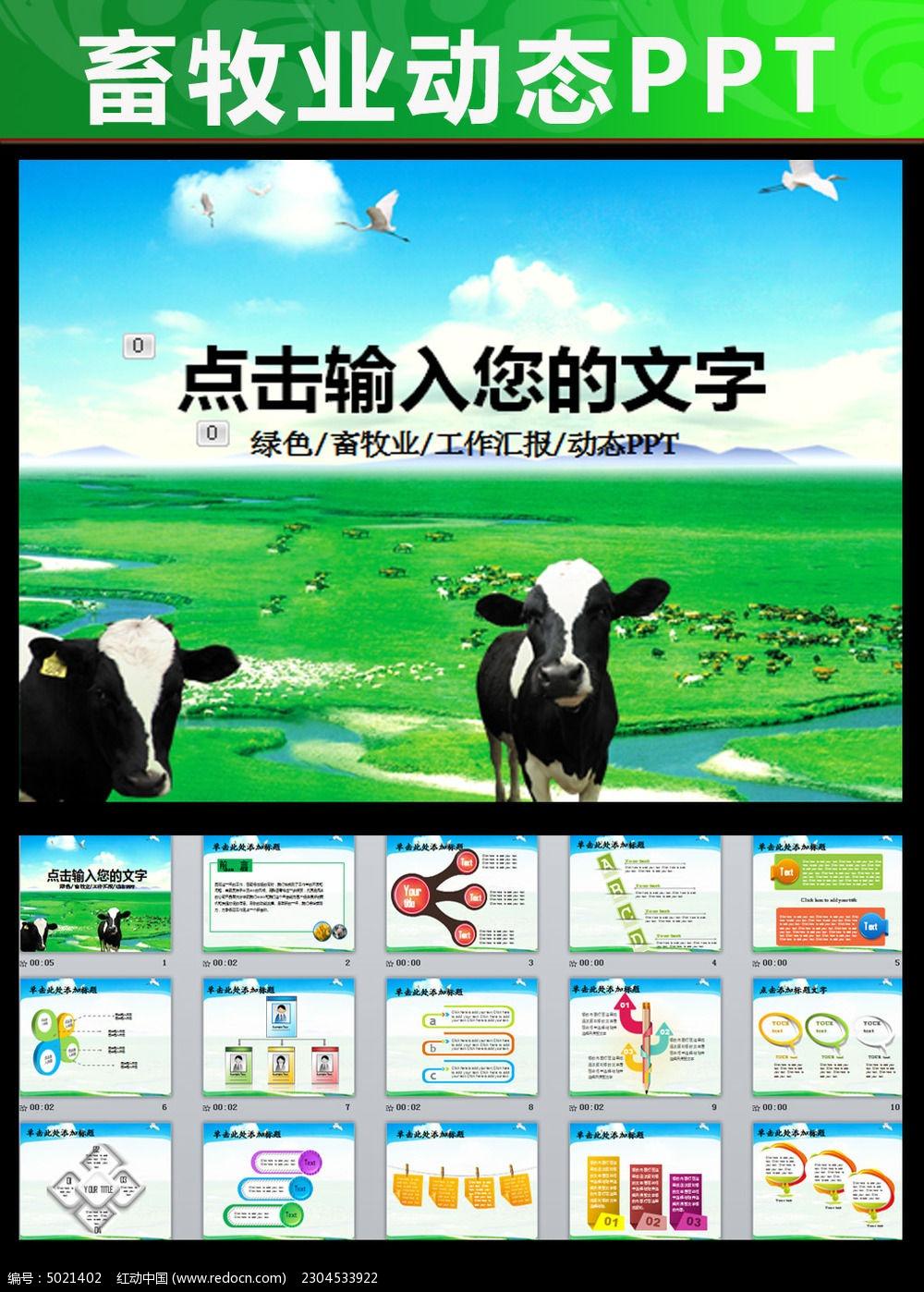 生态农场牧场农业新农村奶牛养殖PPT图片