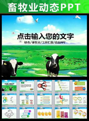 生态农场牧场农业新农村奶牛养殖PPT