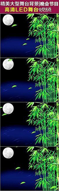 竹子水月唯美意境中秋有音乐视频素材