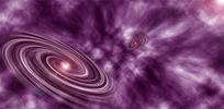 紫色星云背景banner