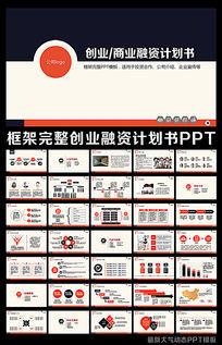 最新完整框架创业计划书项目融资合作PPT模板