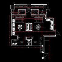 服装店平面布置尺寸CAD图纸 CAD