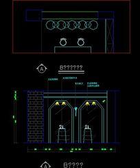 电脑城储物 柜台三视图 CAD图纸图片素材