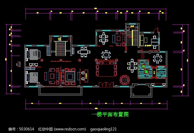 红木家具展厅一楼平面布置图