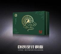 绿色传统中医养生包装盒(展开文件)