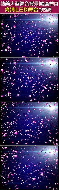 唯美飘落的花瓣婚庆视频素材
