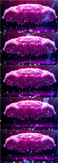 唯美树led大屏幕高清舞台视频