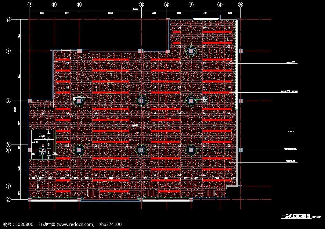 学校图书馆一层地面材质铺装图  请您分享: 素材描述:红动网提供室内