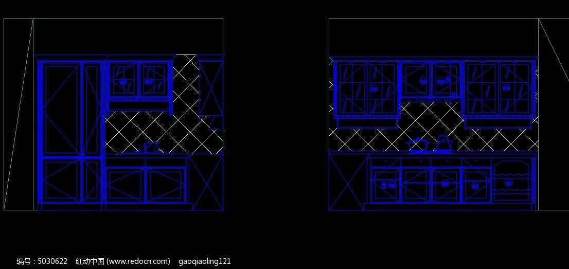 欧式橱柜设计立面图