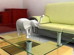山东农村现代室内模型3dmax